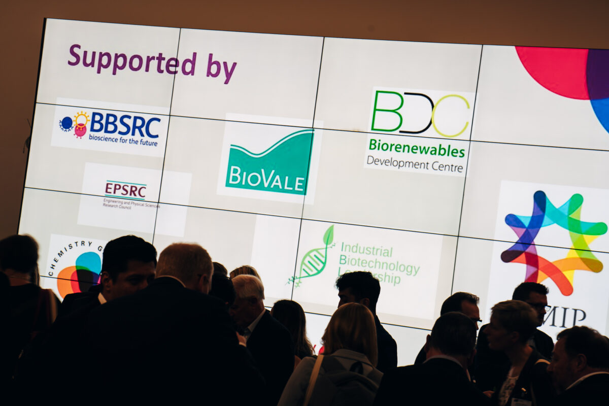 BioVale and other logos at an event